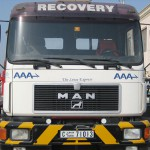MAN HEAD, 4X2, TRACTOR UNIT 19-372. MODIFIED TO TOW BUSES / TRUCKS ON RIGID BAR